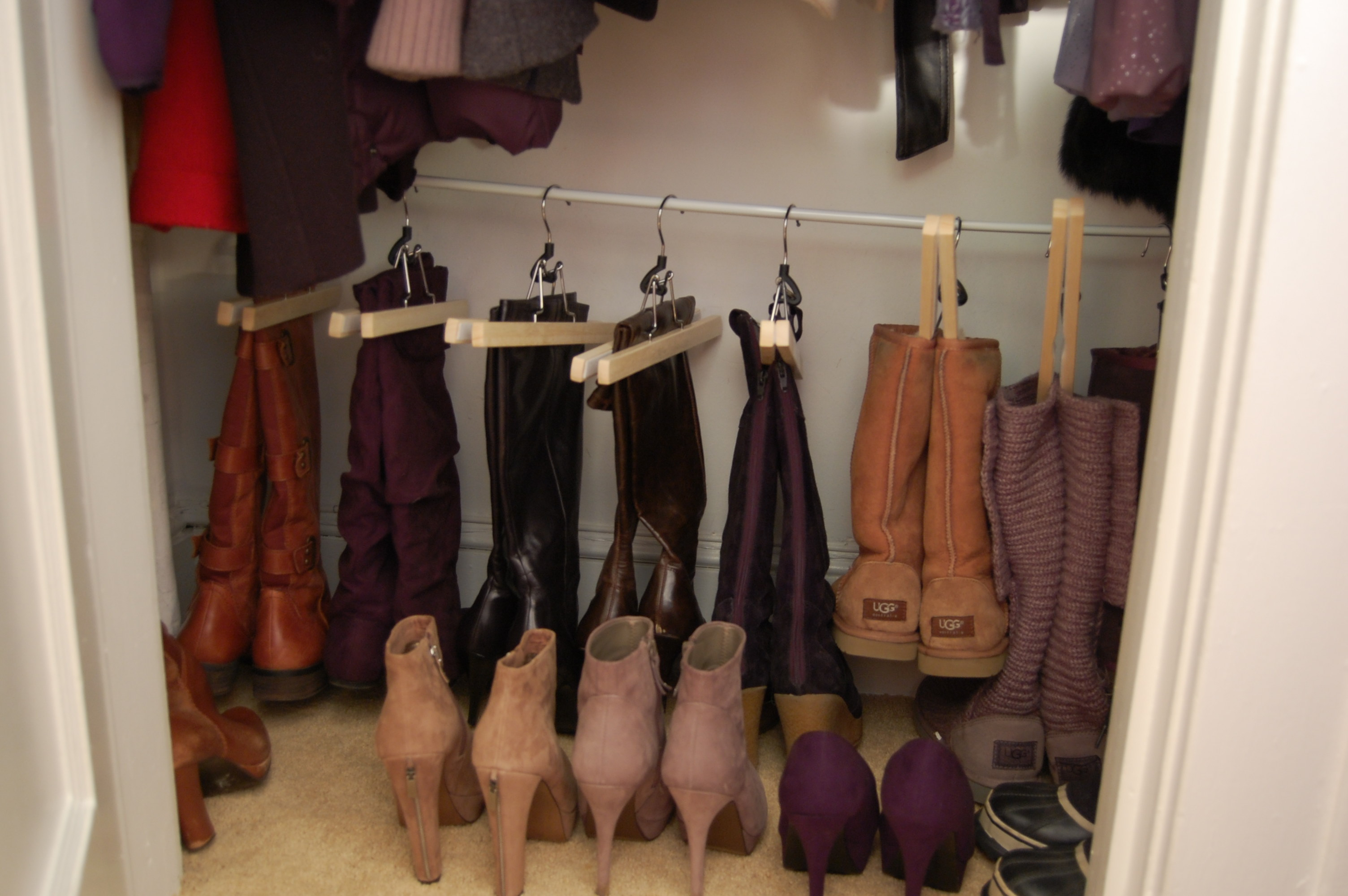 shoe heartwork tips organized for closet organizing