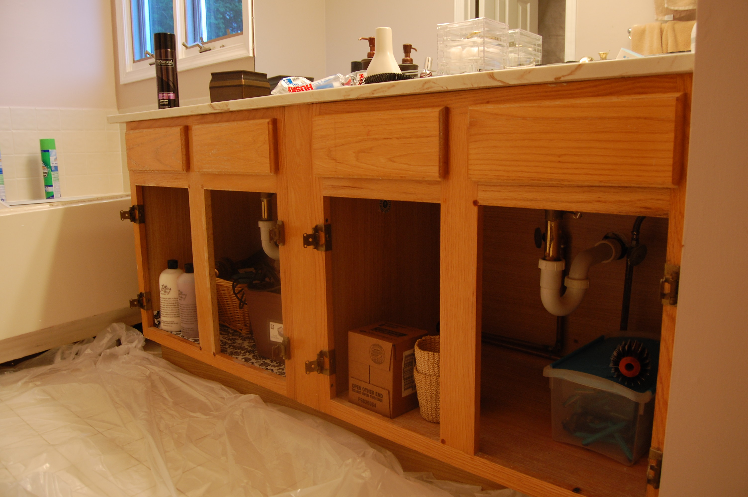 Update Old Bathroom Vanity Diy 1950 Updating Cabis Tsc