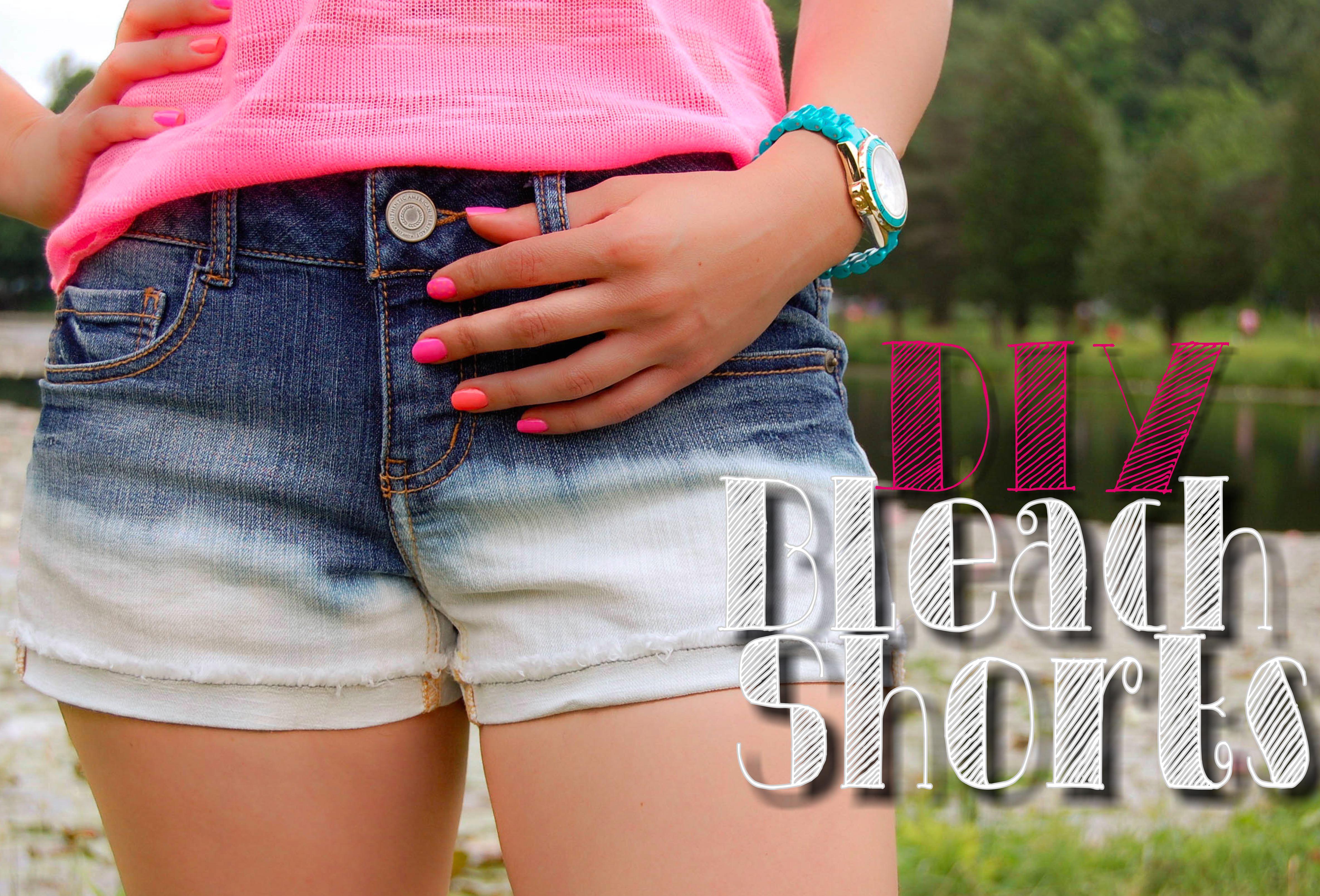DIY Bleach Shorts