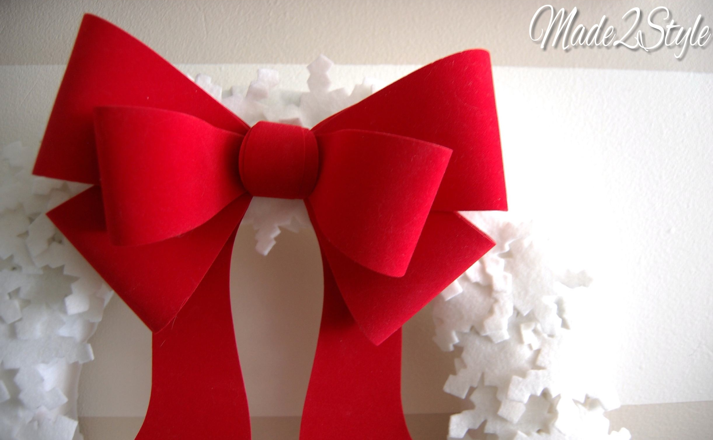 while the red bow is quite festive once the holidays are over im planning on taking it out and replacing it with something a little less christmas and - How To Make A Christmas Bow For A Wreath