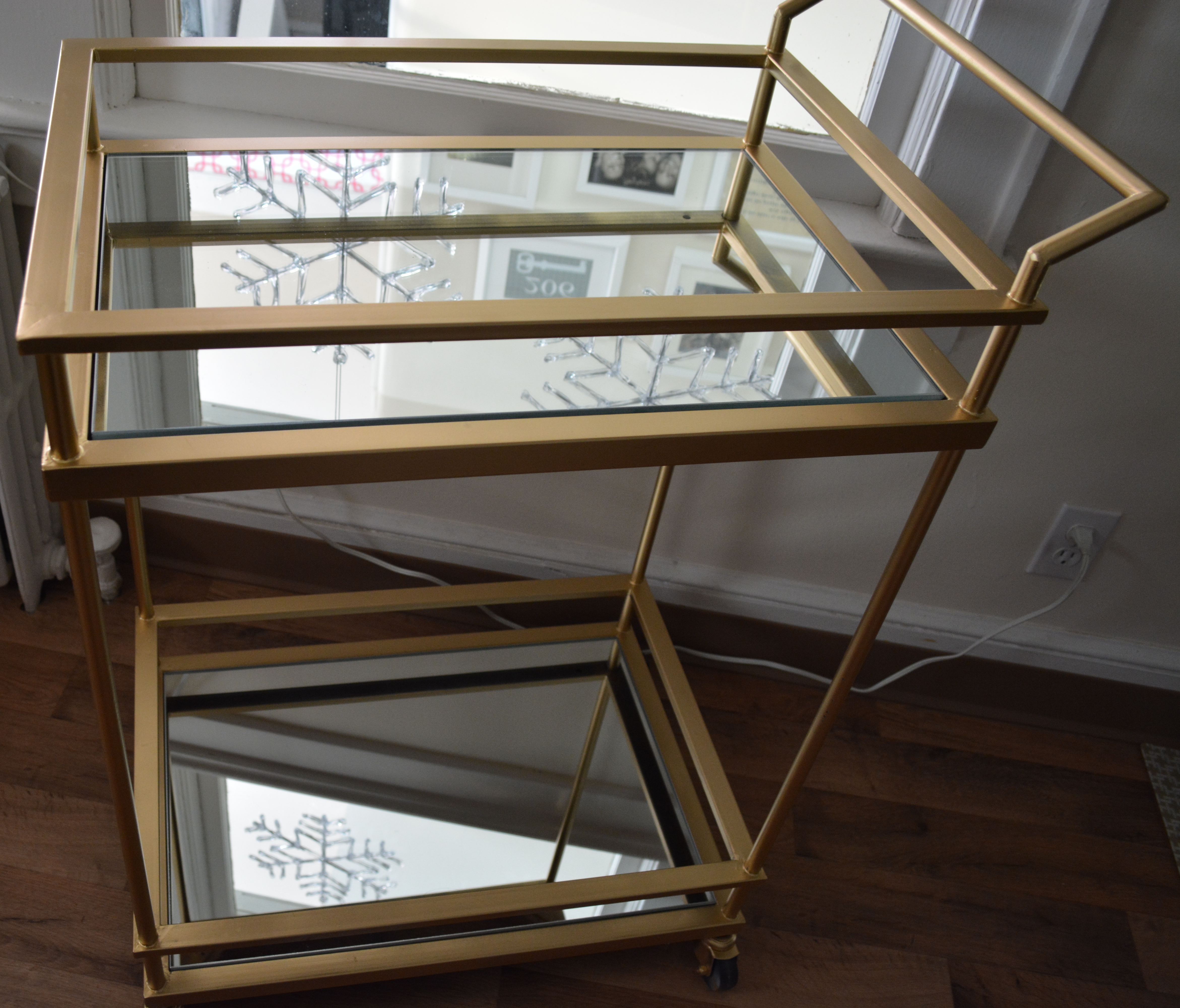 Gold Mirrored Target Bar Cart Hack