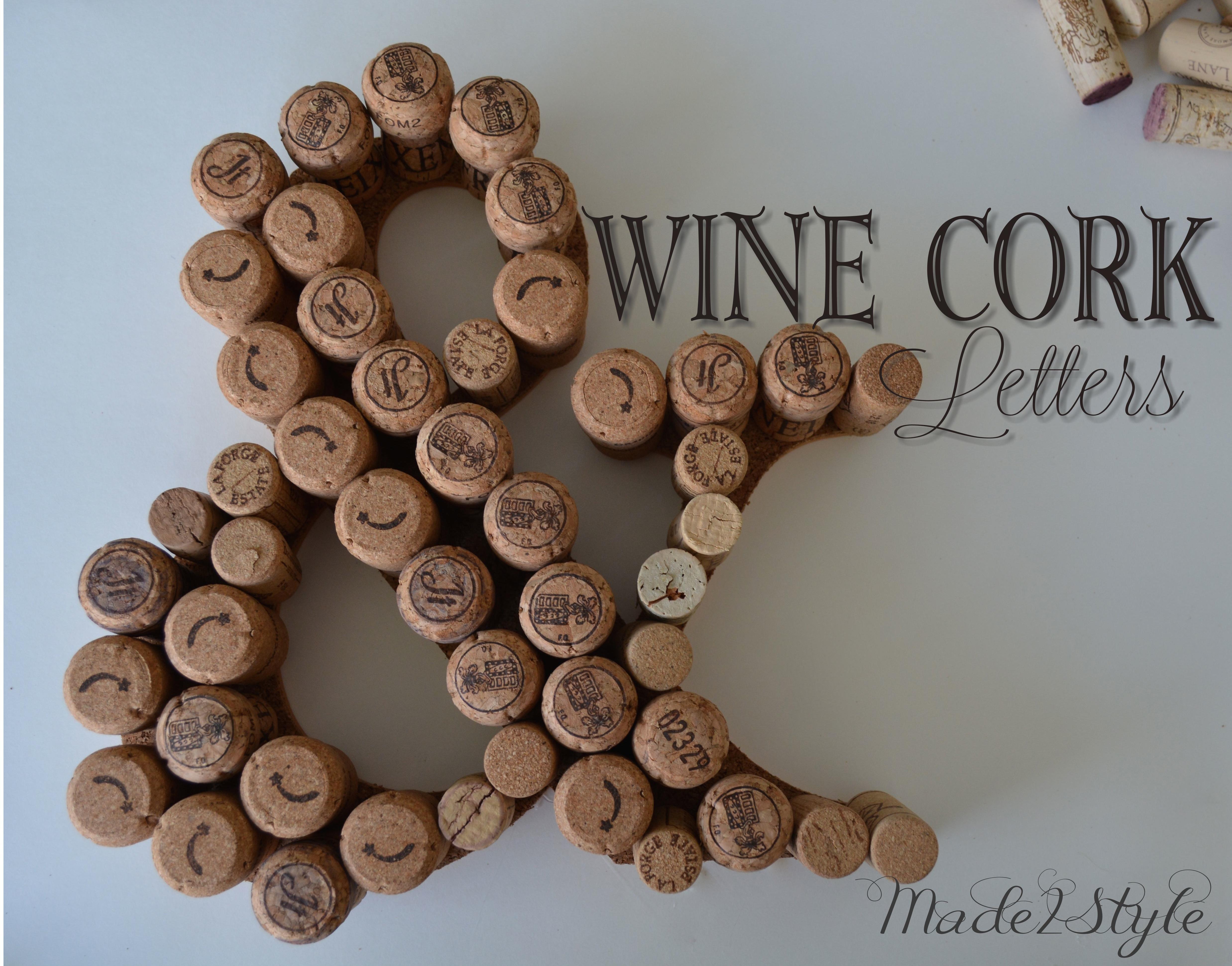 Wine Cork Letters Wine Cork Initials u0026