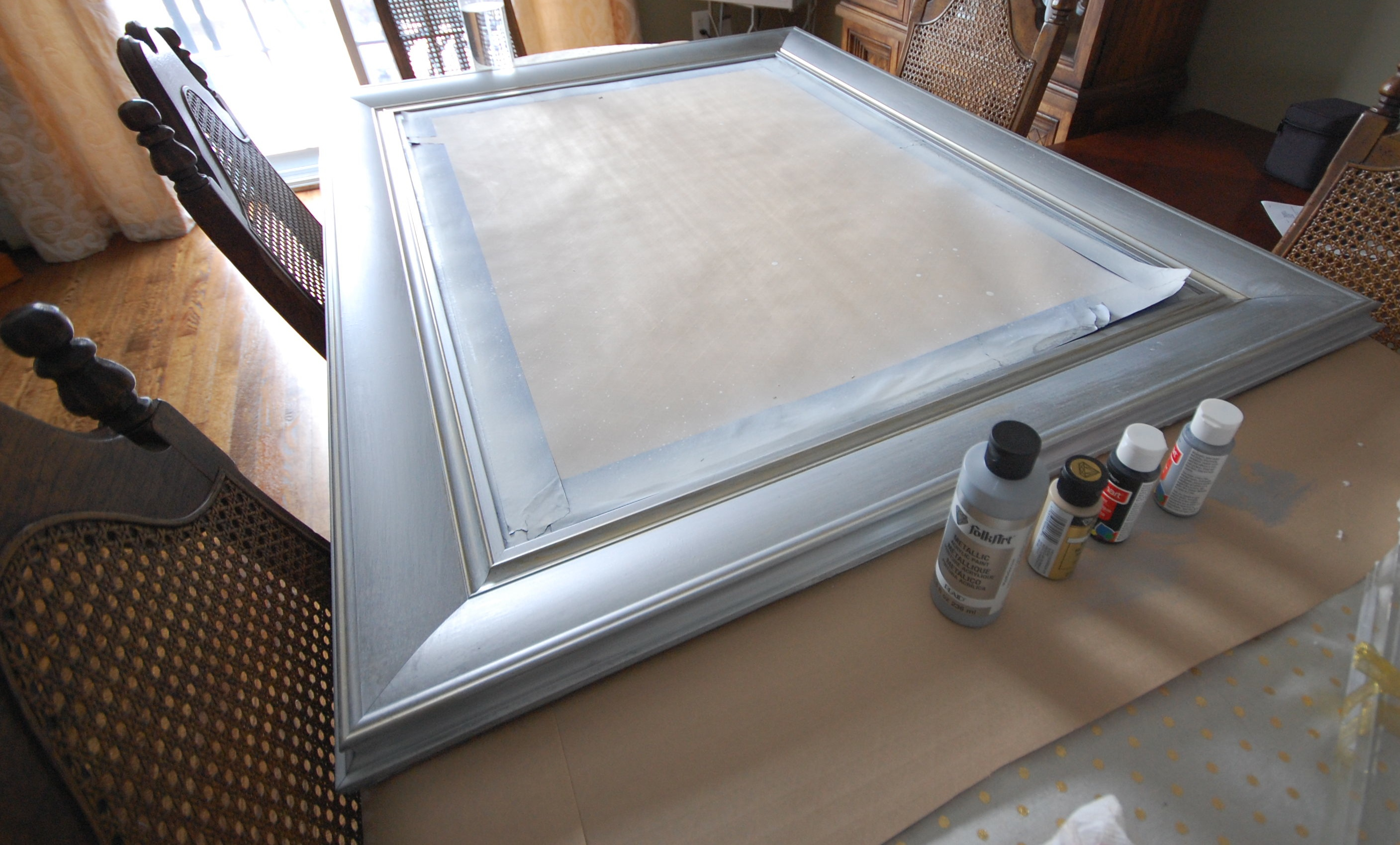 Paint Mirror Frame Silver Image And Description Imageload Co