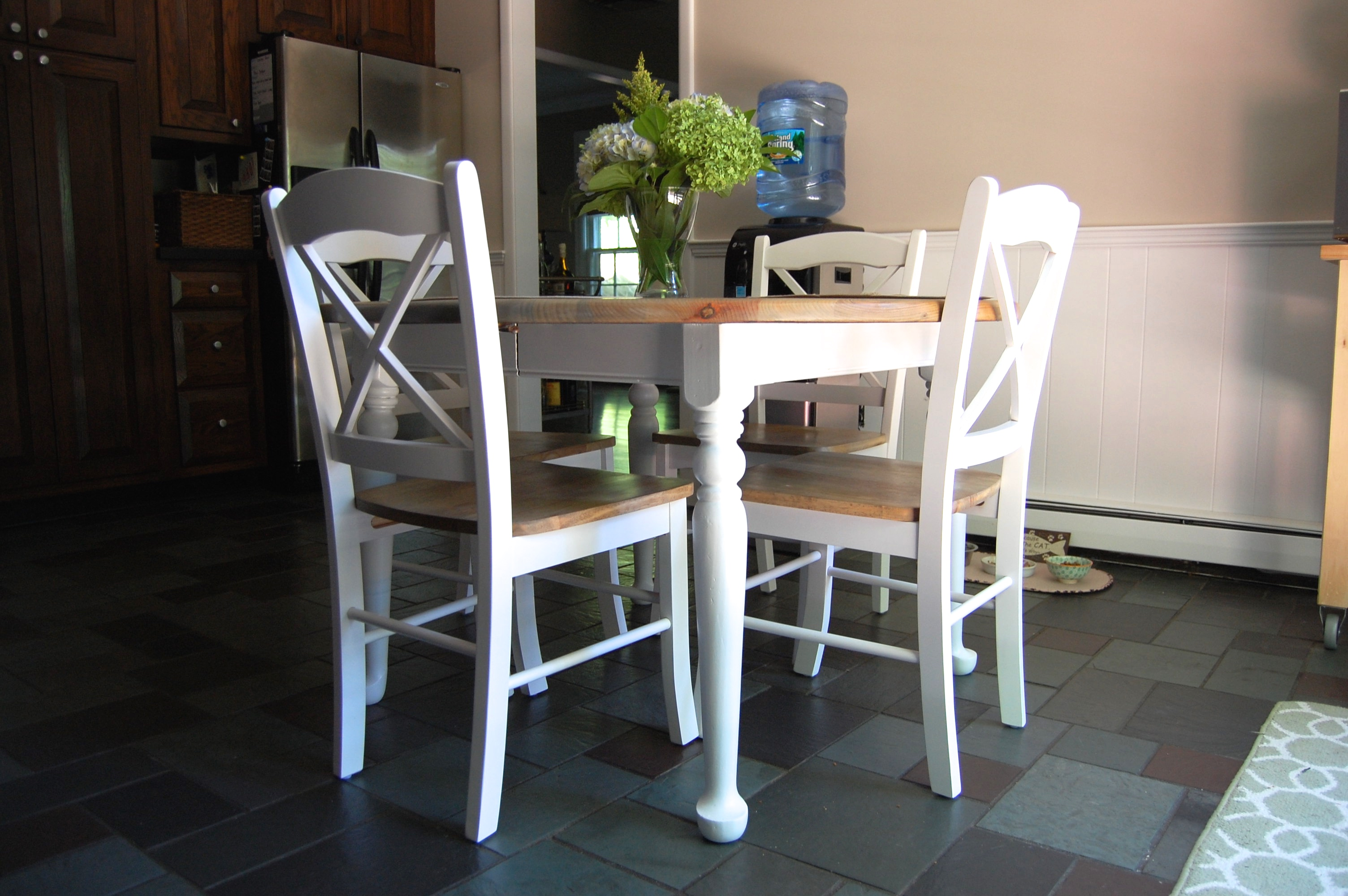 Kitchen table makeover - Kitchen table redo ...