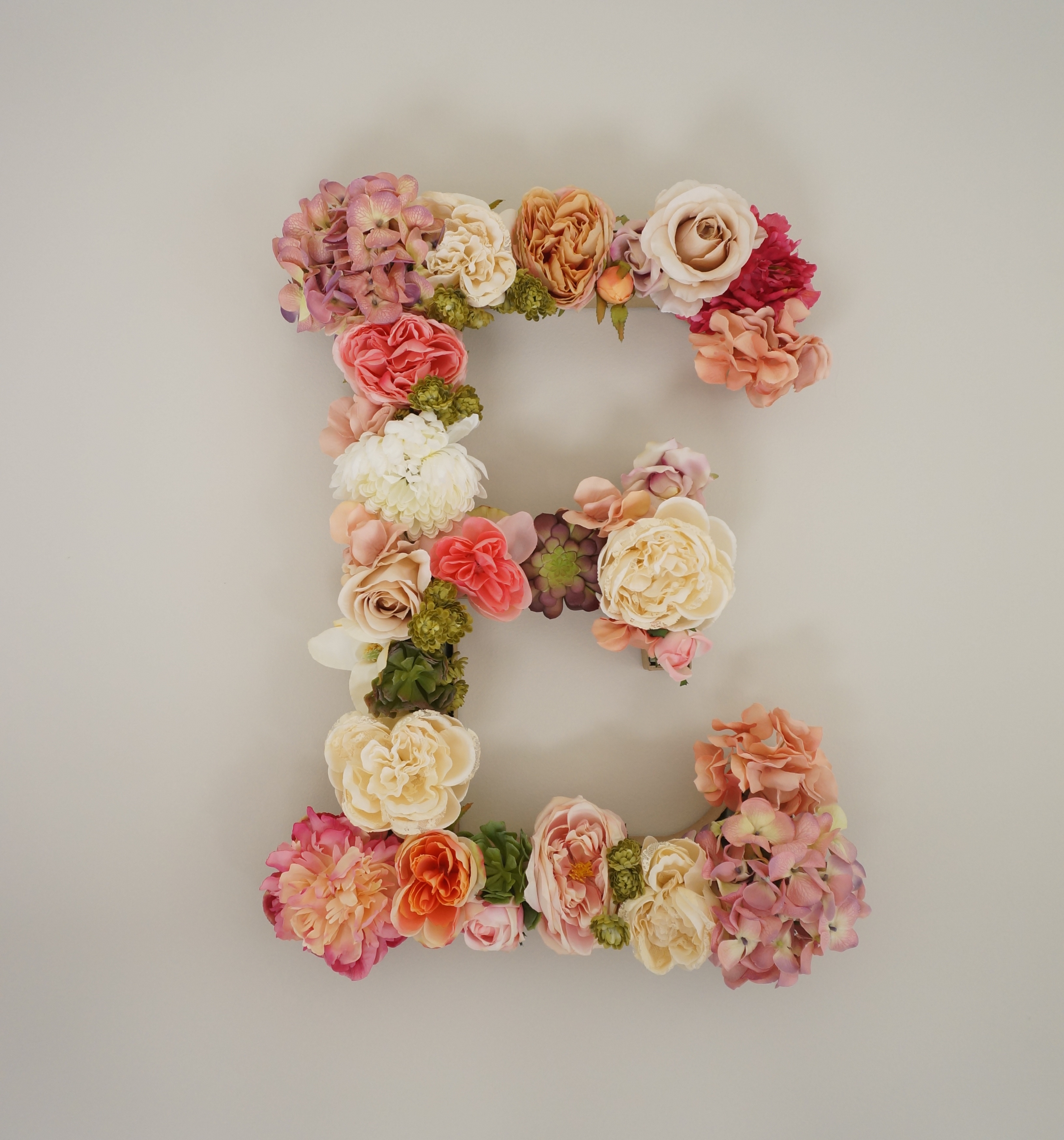 DIY Flowered Letter